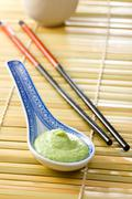 Green wasabi Stock Photos