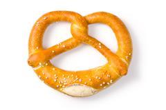 tasty pretzel - stock photo