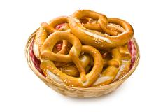 tasty pretzels - stock photo