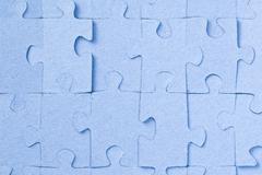Jigsaw puzzle background Stock Photos