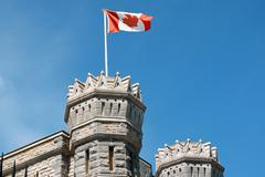 detail of the canadian mint in ottawa - stock photo