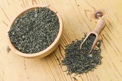 green tea leaves - stock photo