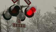 Stock Video Footage of Railroad crossing signal