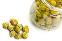 Marinated capers Stock Photos