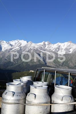 Stock photo of alpine milk