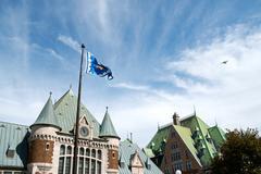 Quebec city gare du palais Stock Photos