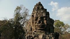Angkor Thom  Cambodia Stock Footage