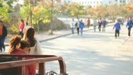 Stock Video Footage of still China Chinese college students walking to class campus