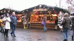 Christmas markets in Vienna (Wien) Stock Footage