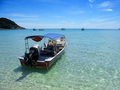 Boat, perhentian islands, sabah, malaysia Stock Photos