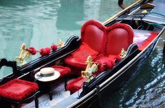 venetian typical boat - gondola - stock photo