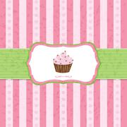 Pastel vintage cupcake background Stock Illustration