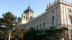 Natural History Museum in Vienna alternative view Stock Footage