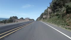 Driving POV - Northbound Oregon Coast Hwy 101 - 2 Stock Footage