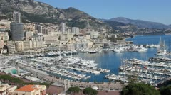 Aerial view of Monaco - stock footage