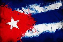 Cuban flag Stock Photos