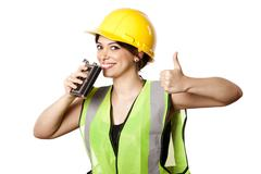 Alcohol safety woman thumbs up Stock Photos