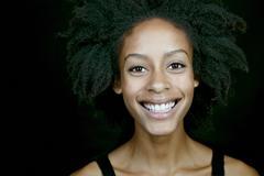 Mixed race woman smiling Stock Photos