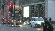 Snow pours on London Stock Footage
