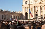 Stock Photo of the pope francis inauguration mass