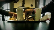 Eating fast food timelapse Stock Footage