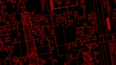 Printed circuit board 007 Vj rotate Srobe Stock Footage
