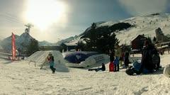 Snow jump zone.mp4 Stock Footage