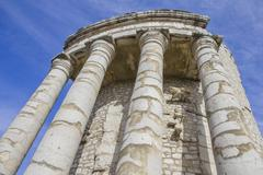 Trophy of Augustus in La Turbie, French Riviera - stock photo