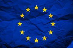 Grunge europian union flag Stock Photos
