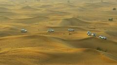 Tourist Trip Dubai Desert Sand Dunes Stock Footage
