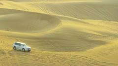Off Road Vehicles Desert Safari Stock Footage