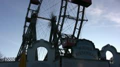 Ferris Wheel at Prater, Vienna (alternative angle) Stock Footage
