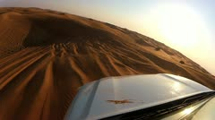 Dune bashing adventure in the  desert, Middle East - stock footage