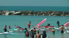 Wind surfing Stock Footage