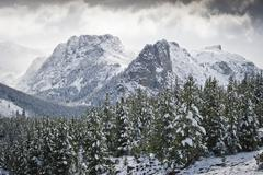 Early Winter in Mountains Stock Photos