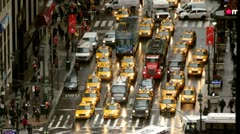 New York City traffic time-lapse arial Stock Footage