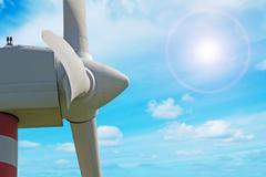 detail of windpower - stock photo
