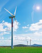 windpower prop - stock photo