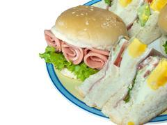 Hamburger with sandwich Stock Photos