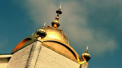 Sikh Gurdwara under passing clouds Stock Footage