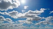Clouds and bright sun Stock Photos