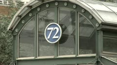 New York City subway system 72nd. street entrance Stock Footage