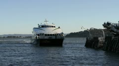 Ferry Docking - stock footage