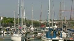 Boats in Preston Marina Stock Footage