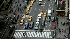 New York City traffic arial time-lapse Stock Footage