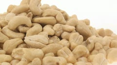 Raw cashews zoom in 3 Stock Footage