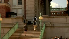 Columbia University Campus Stock Footage