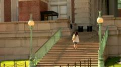 Columbia University Campus Stock Footage