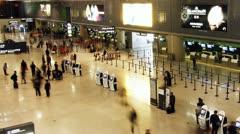 Shanghai Hongqiao Airport Terminal Stock Footage