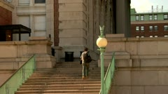 Columbia University Campus new York City Stock Footage